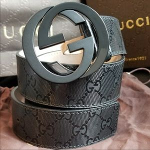 Black Authentic Gucci Belt 38